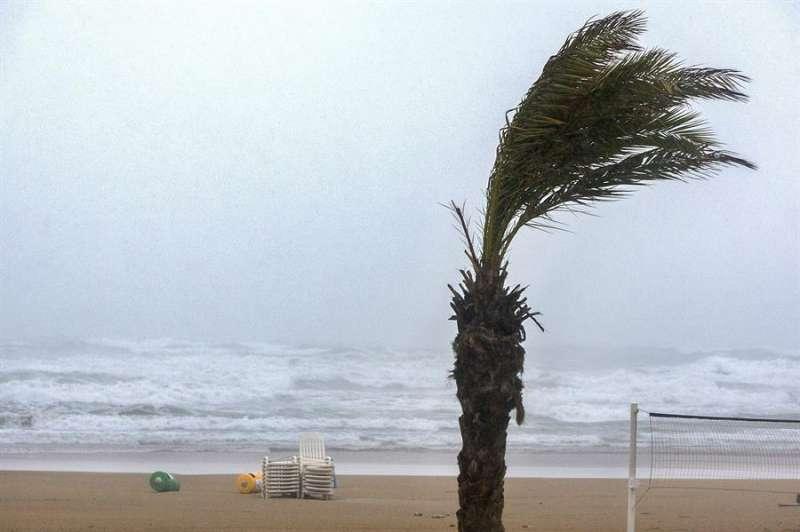Una imagen de Gandia, en un temporal anterior. EFE/Rubén Francés/Archivo