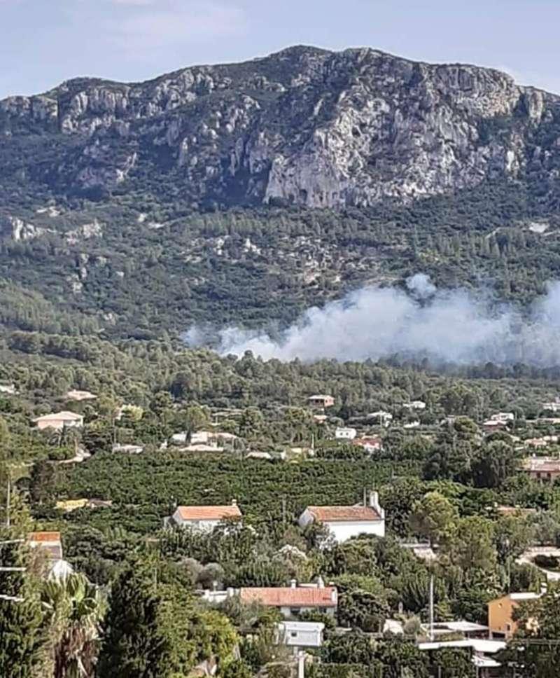 Incendio Simat de la Valldigna./EPDA