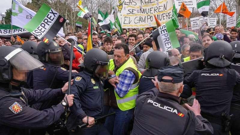 Movilizaciones llevadas a cabo en Badajoz la pasada semana. EFE