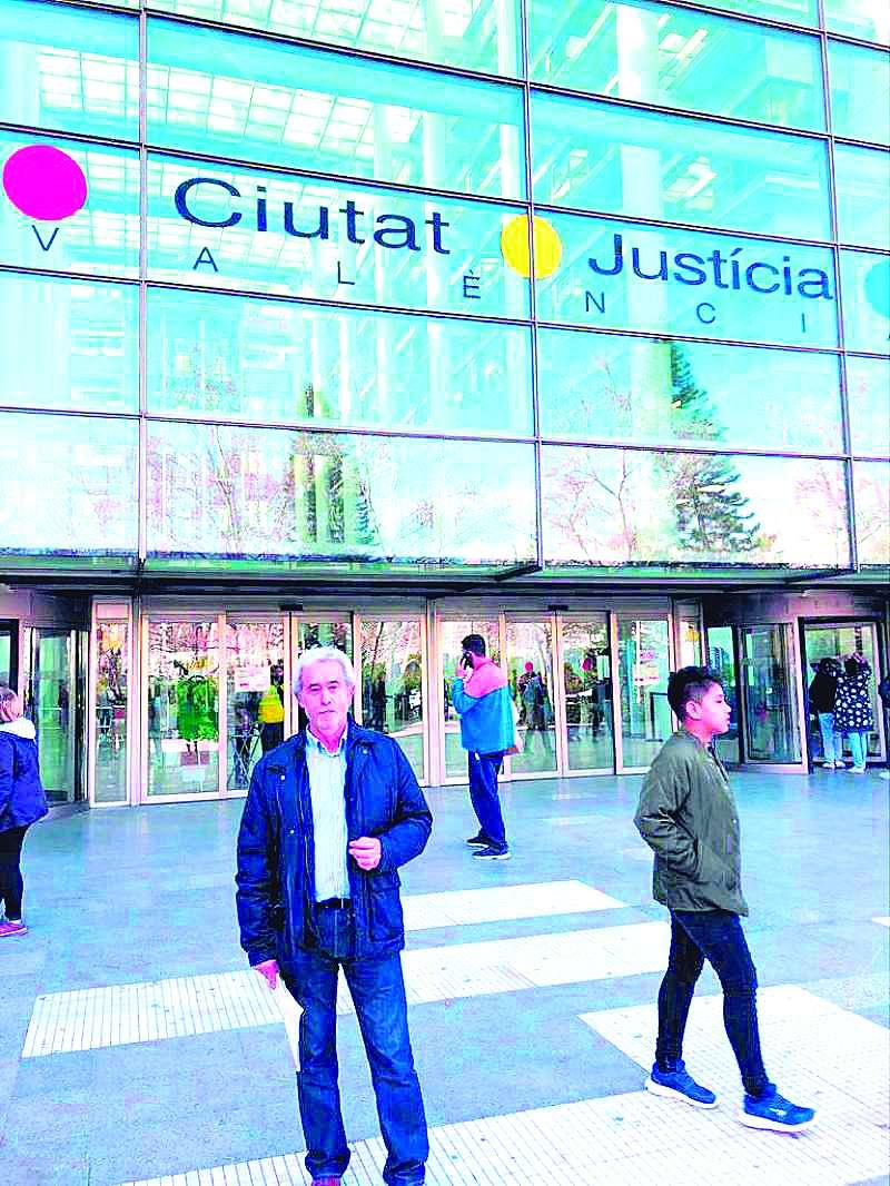 Carlos Herrera en los juzgados de València.