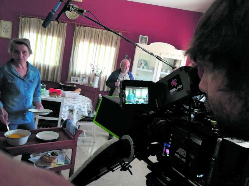 Rodaje de la nova pel·lícula de Pedro Pérez Rosado. EPDA