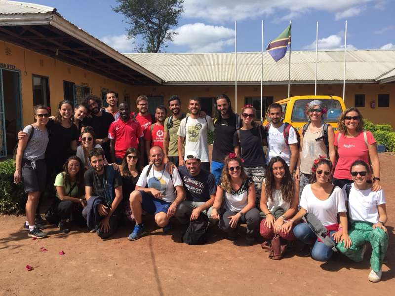 Participants en la iniciativa solidària. EPDA