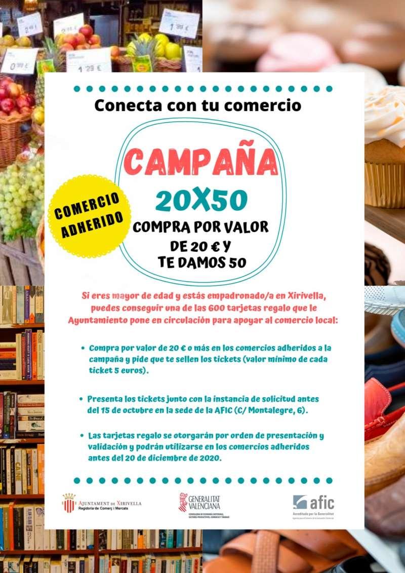 Campaña comercio local Xirivella./ EPDA