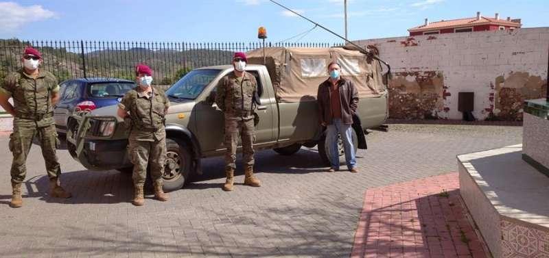 La UME en Castellnovo, en una imagen del Ejército.