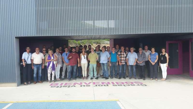 Representantes del Consorci MARE Marina Residus en la planta de Algímia d