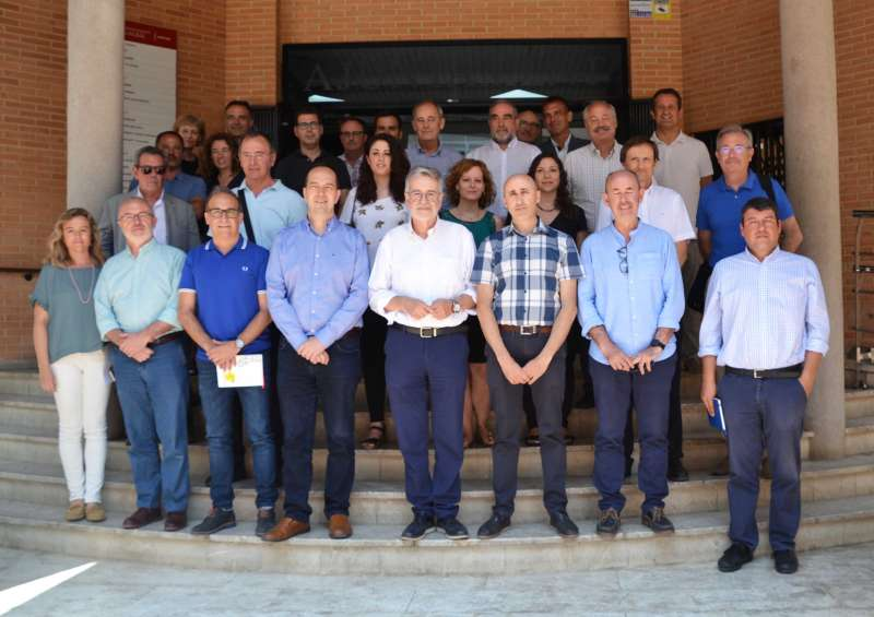 Alcades, concejales y técnicos en el ayuntamiento de Albal
