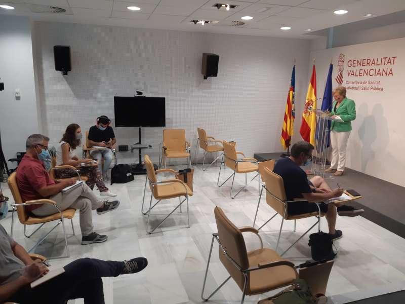 Ana Barceló durante su comparecencia.
