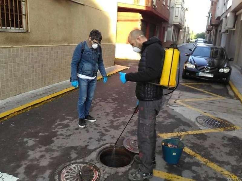 Tratamiento contra las plagas en Massanassa. EPDA