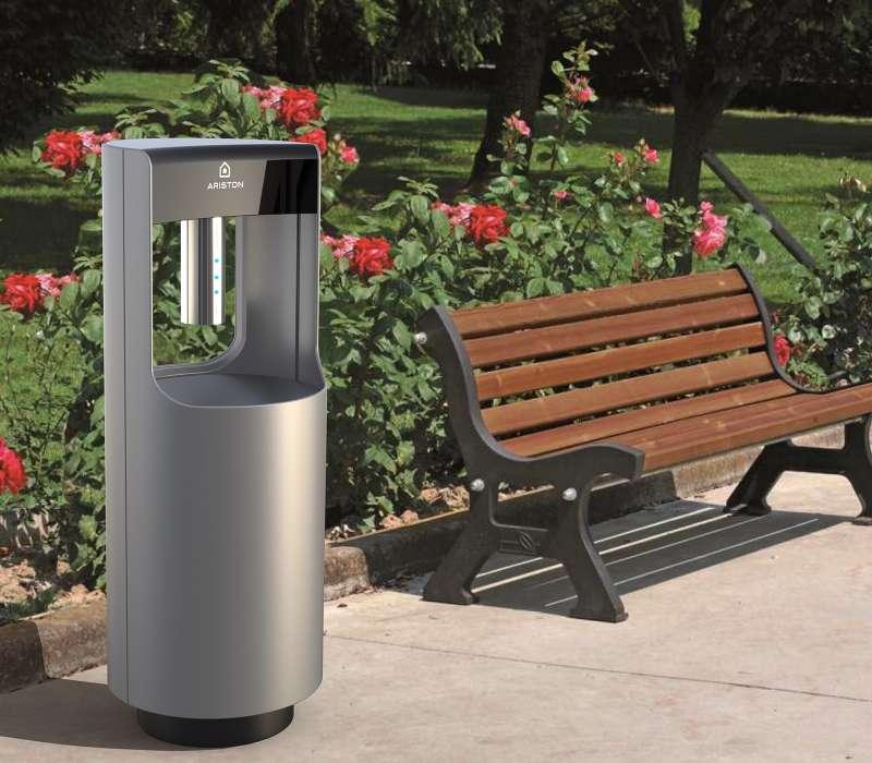 Fuente de lavado de manos Igea CARE desarrollada por Ariston para espacios tanto públicos como privados (Imagen: Ariston).