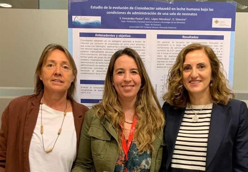 Imagen de las tres investigadoras cedida por la Universidad CEU Cardenal Herrera de Valencia. EFE