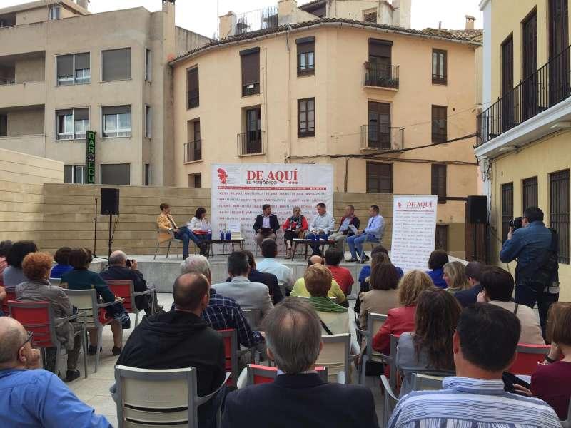 Debate organizado en Segorbe por El Periódico de Aquí en el Casino el jueves 23 de mayo. FOTO D. R.