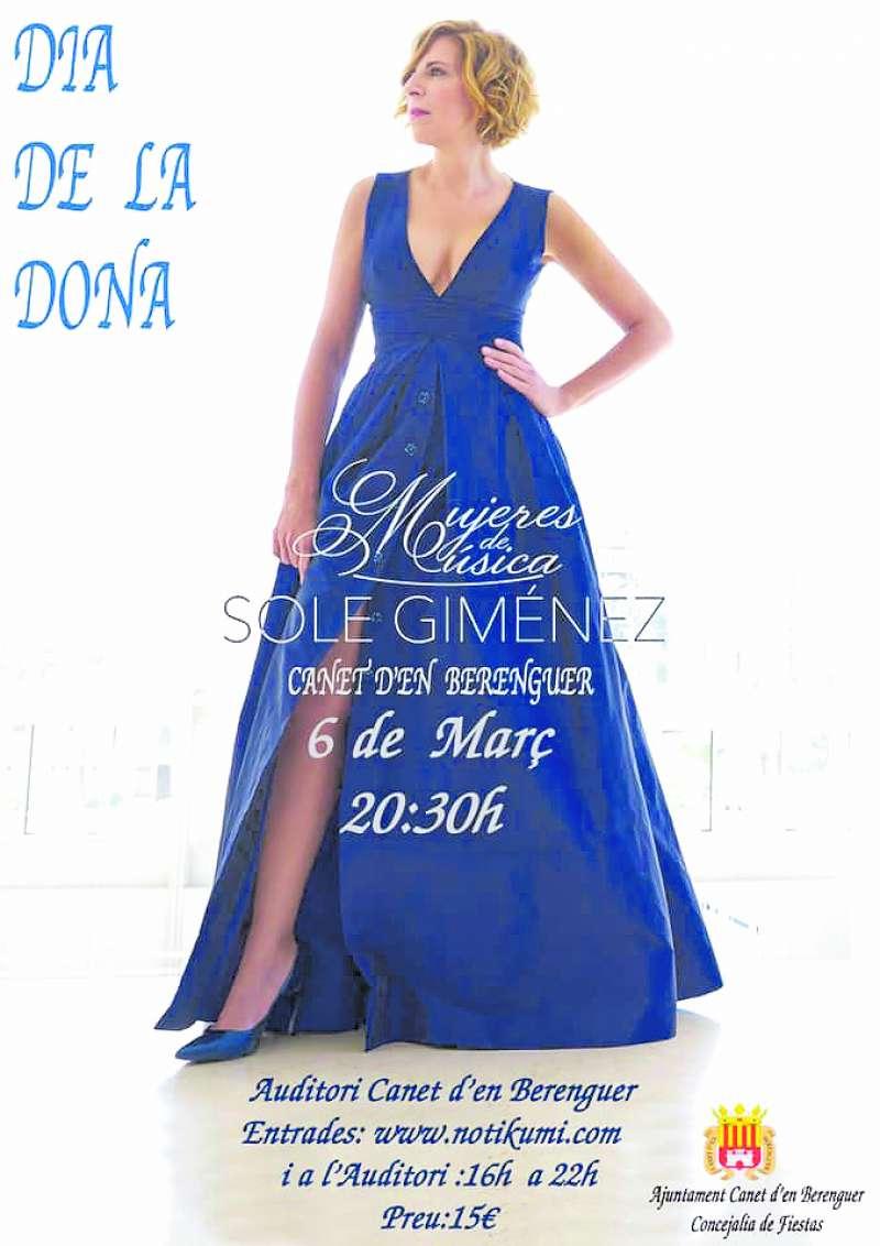 Cartel de la actuación de Sole Giménez. EPDA