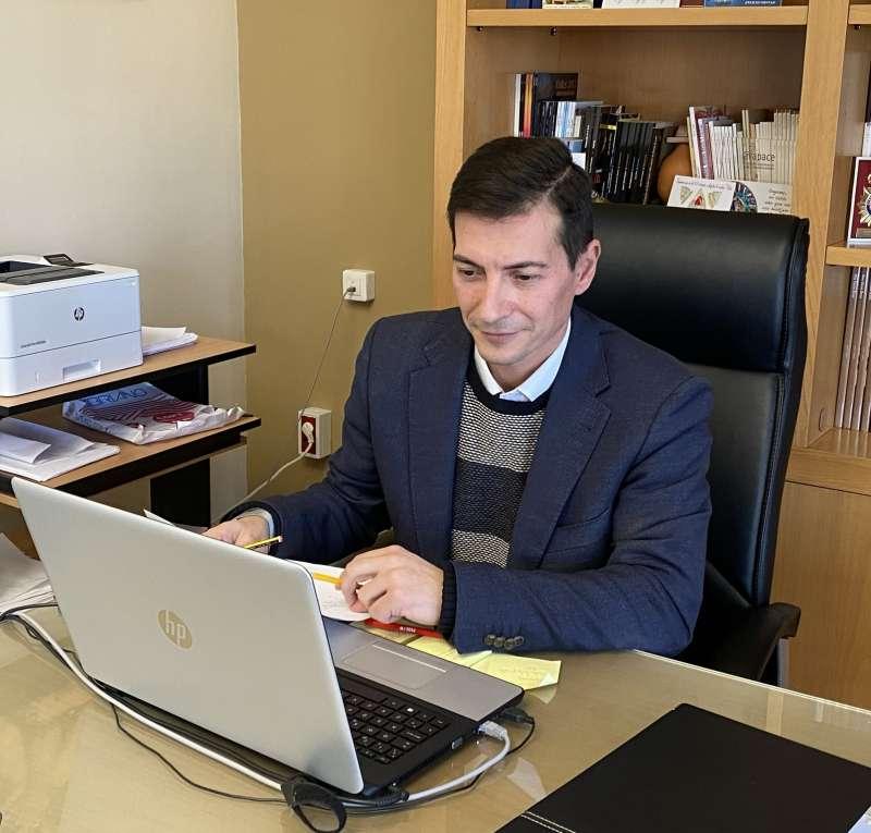 El alcalde y concejal de Igualdad Rafa García. EPDA