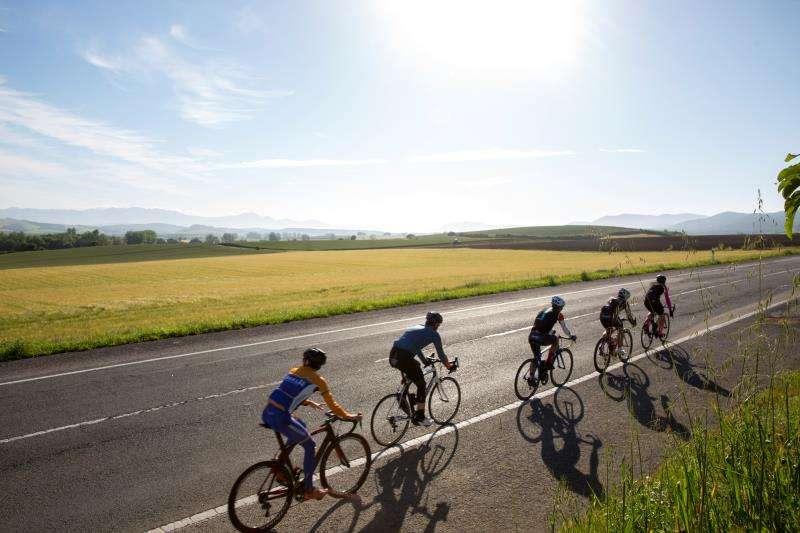 Ciclistas en marcha