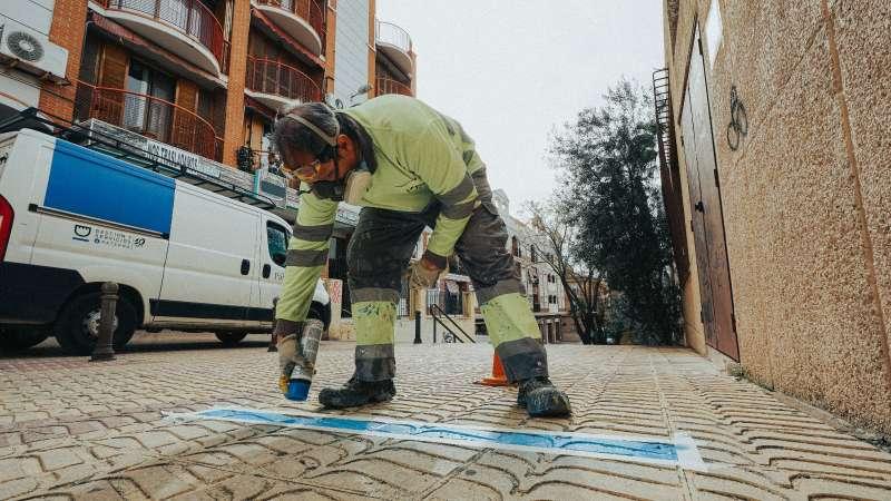 Marcas de seguridad en centros de salud de Paterna. EPDA