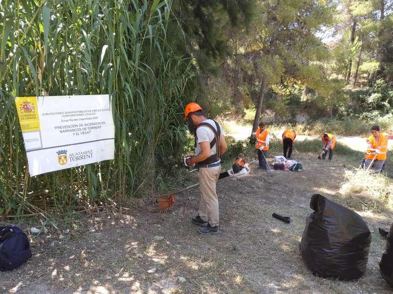 Trabajos de prevención de incendios en Torrent. EPDA