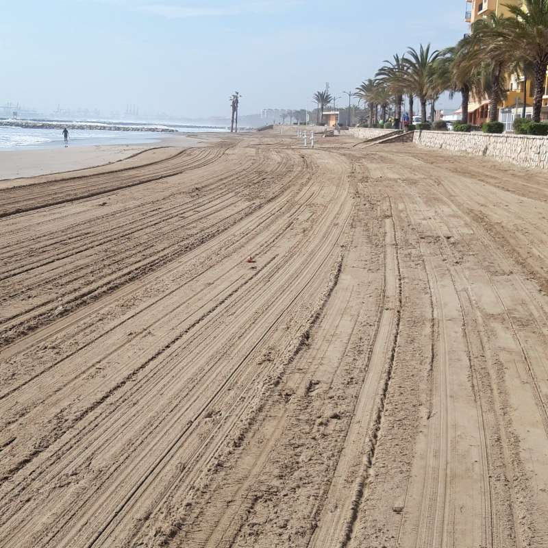 Imagen de archivo de la playa de Alboraya. EPDA