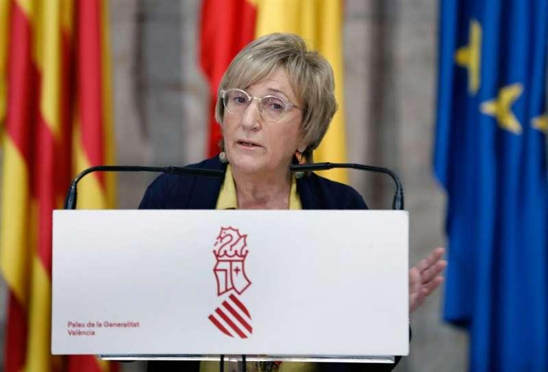 La consellera de Sanidad Universal y Salud Pública de la Generalitat Valenciana,, Ana Barceló durante la rueda de prensa. EFE/ Juan Carlos Cárdenas