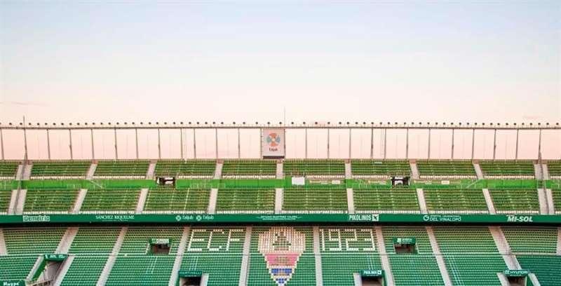 Imagen del estadio del Elche, en una imagen compartida en redes por el club.