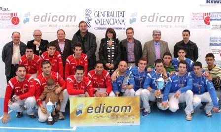 Massalfassar y Beniparrell, finalistas del 2011, optan a revalidar el título en el Edicom 2012. FOTO: EPDA.