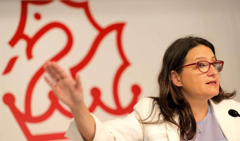 La vicepresidenta y portavoz del Consell, Mónica Oltra. EFE/Manuel Bruque/Archivo