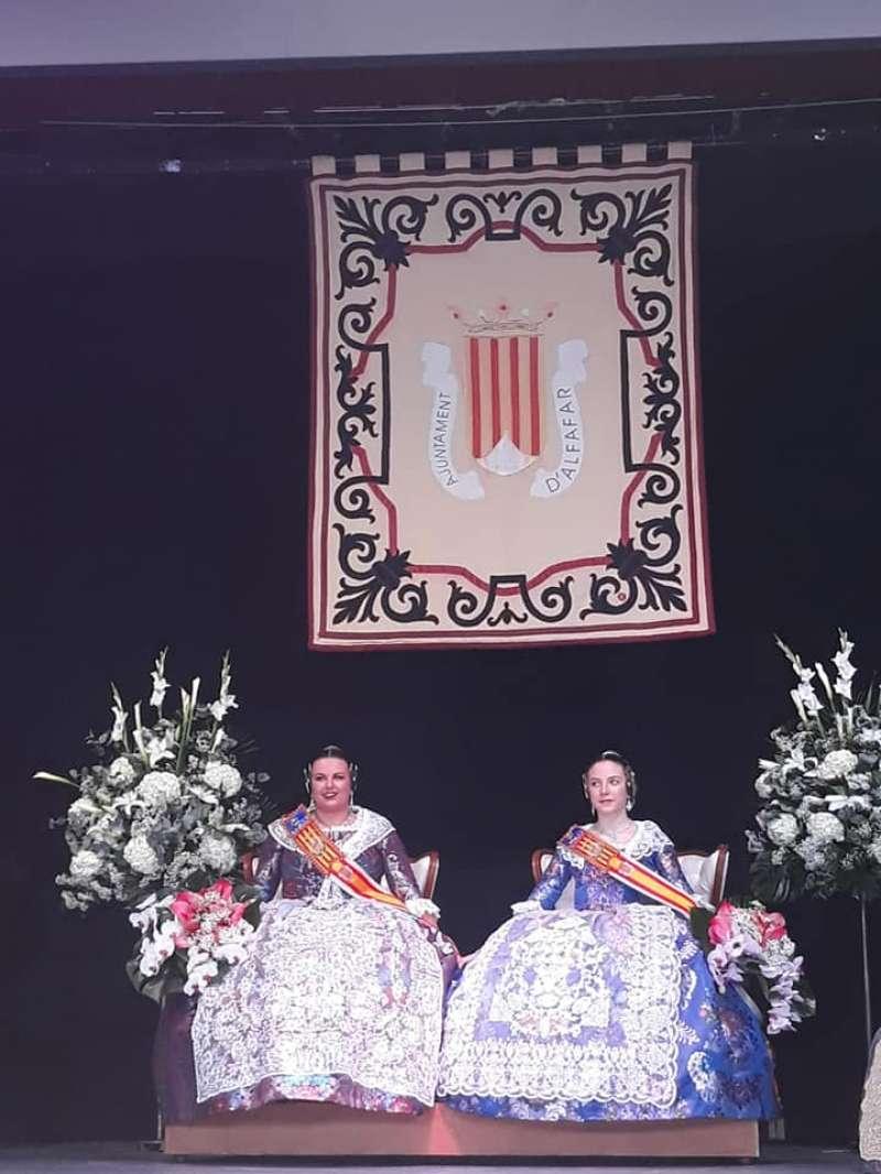 Fallera Mayor, Cinthia López y la Fallera Mayor Infantil, Paula Casas. EPDA
