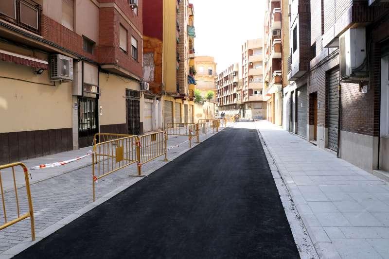 Una de las calles afectadas por los trabajos de mejor. EPDA