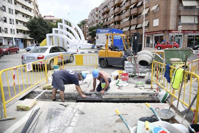 Obras en el Puente Nuevo. EPDA