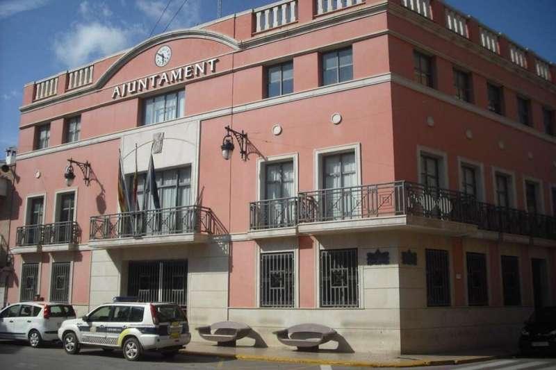 Fachada del ayuntamiento de Rafelbunyol. EPDA