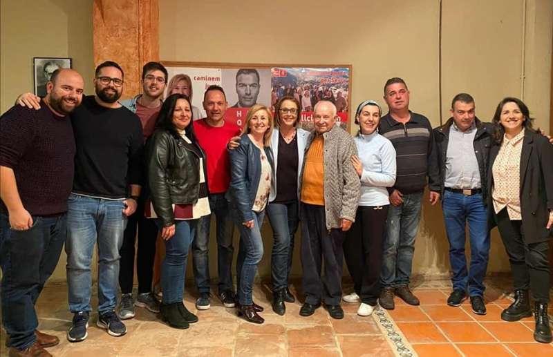 La agrupación local del PSPV-PSOE de Serra. / EPDA