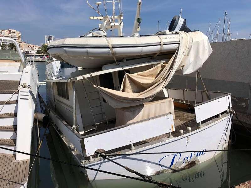 Vaixell al port esportiu de La Pobla. EPDA