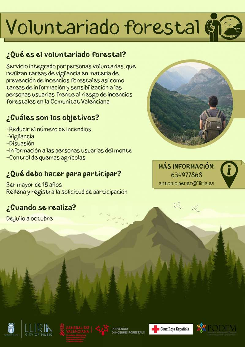 Cartel Voluntariado Ambiental. / EPDA