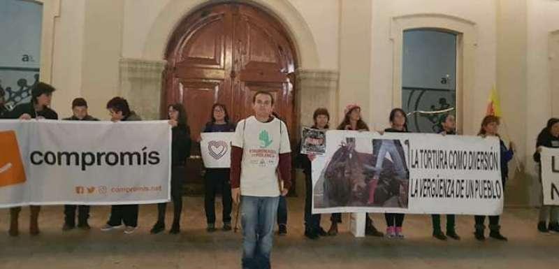 Una protesta taurina en Alfafar. EPDA