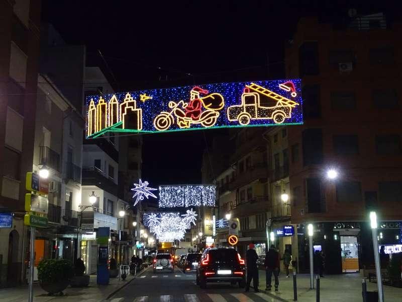 Iluminación navideña de calles de Utiel