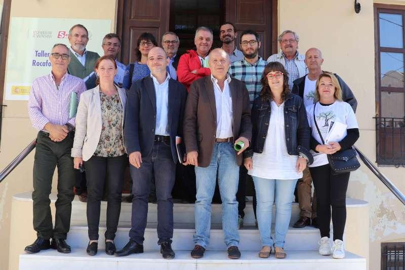 Reunión en Rocafort entre los ayuntamientos de Rocafort, Godella, Burjassot y Massarrojos con la Generalitat. EPDA