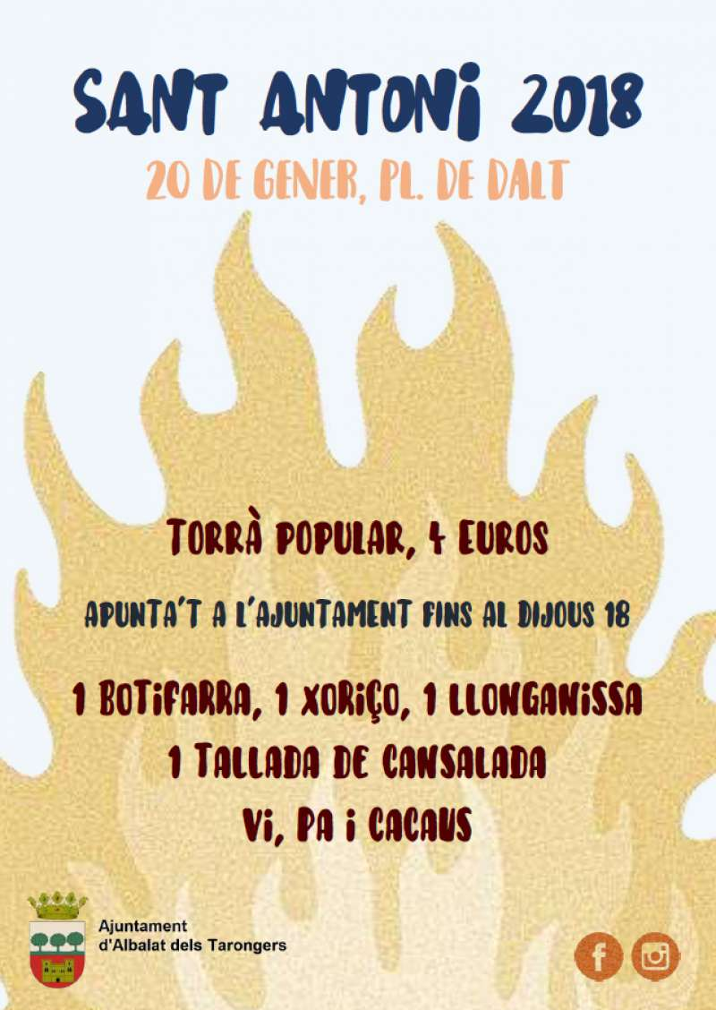 Cartell de la festa de Sant Antoni d