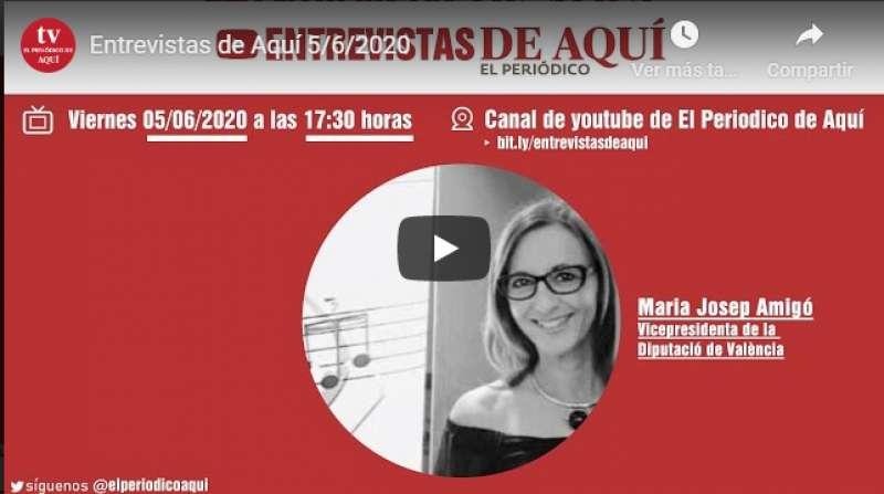 Hoy, Mª Josep Amigó, en directo, en las #EntrevistasDeAquí