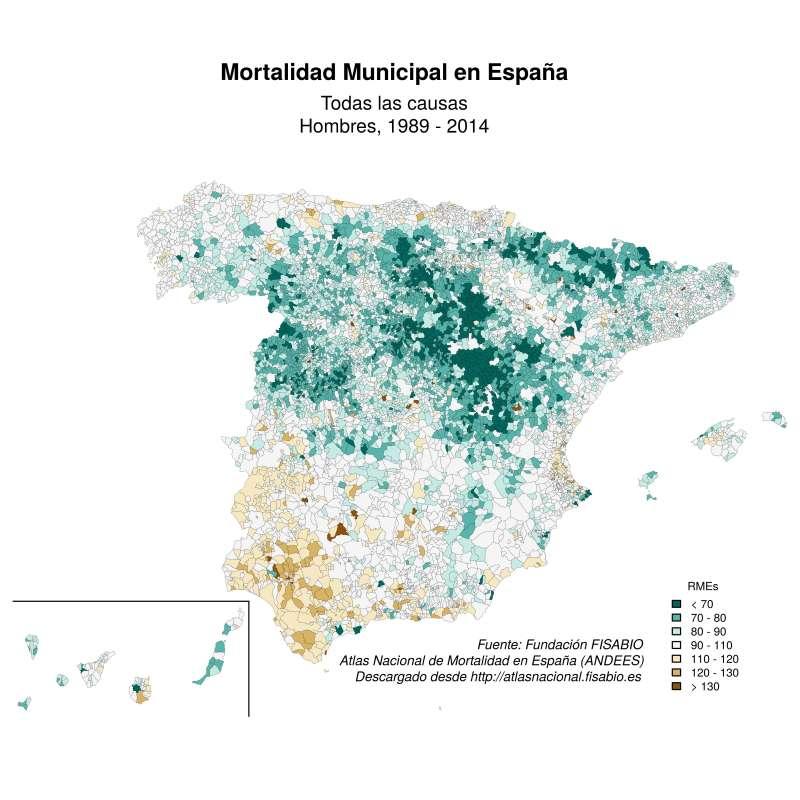 Mapa de mortalidad. EPDA