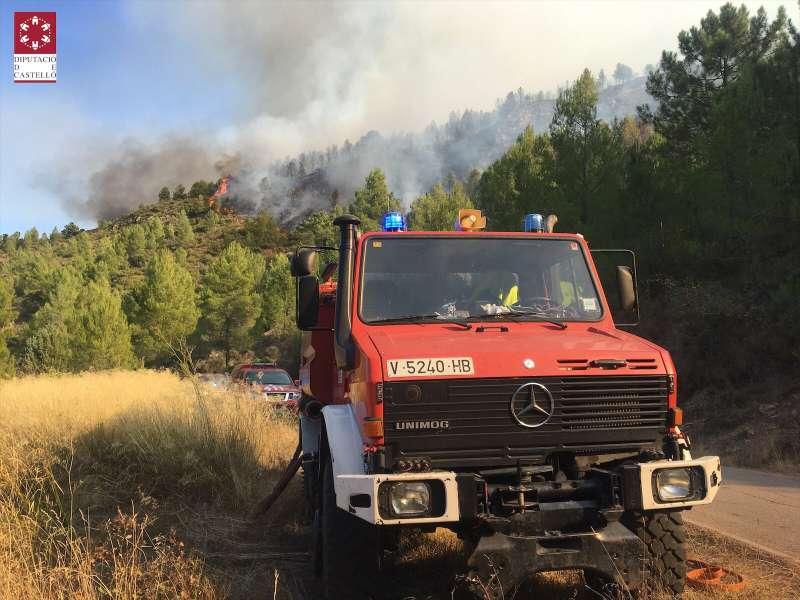 Numerosos medios en el incendio