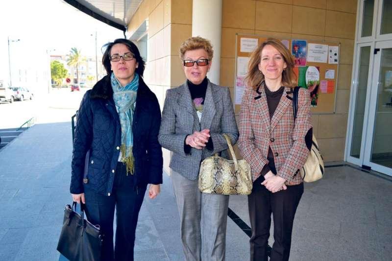 Representantes de El Plantío en el Ayuntamiento de Canet en 2013. EPDA
