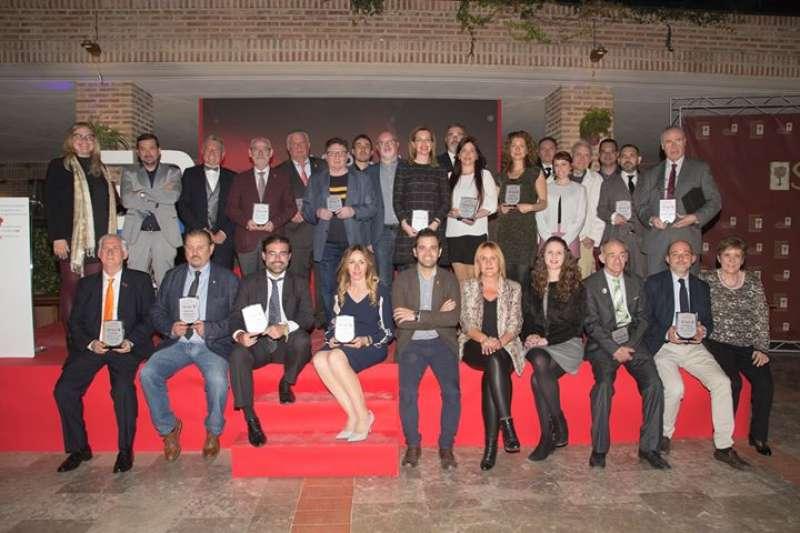 Los premiados en la sexta edición celebrada en El Puig. Elvira Folguerà